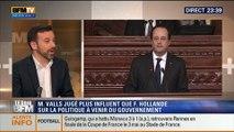 Le Soir BFM: François Hollande vs Manuel Valls: Qui aura le plus d'influence sur la politique du gouvernement dans les prochains mois ? - 16/04 4/4