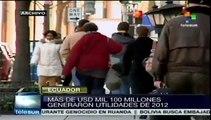 Ecuador verifica pago de utilidades a trabajadores en empresas