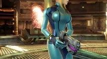 Samus & Zero Suit Samus Gameplay in Smash Bros Wii U & 3DS[360P]