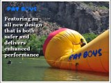 The new toy for water sport fanatics is the water launch pad by Water Trampoline Express