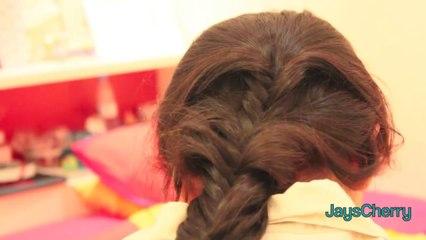 3 fishtail braid ♥ الرجوع للدراسه_ ٣ تسريحات شعر بـ ضفيرة ذي