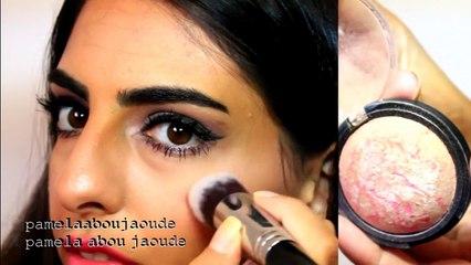 a simple makeup tutorial using drugstore ,مكياج سهل باستخدام