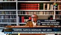Ministra de Cultura de Colombia habla de homenajes a García Márquez