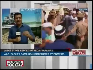 Kejriwal faces poster attack as protest by BJP workers