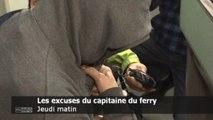 Le capitaine sud-coréen du ferry présente ses excuses