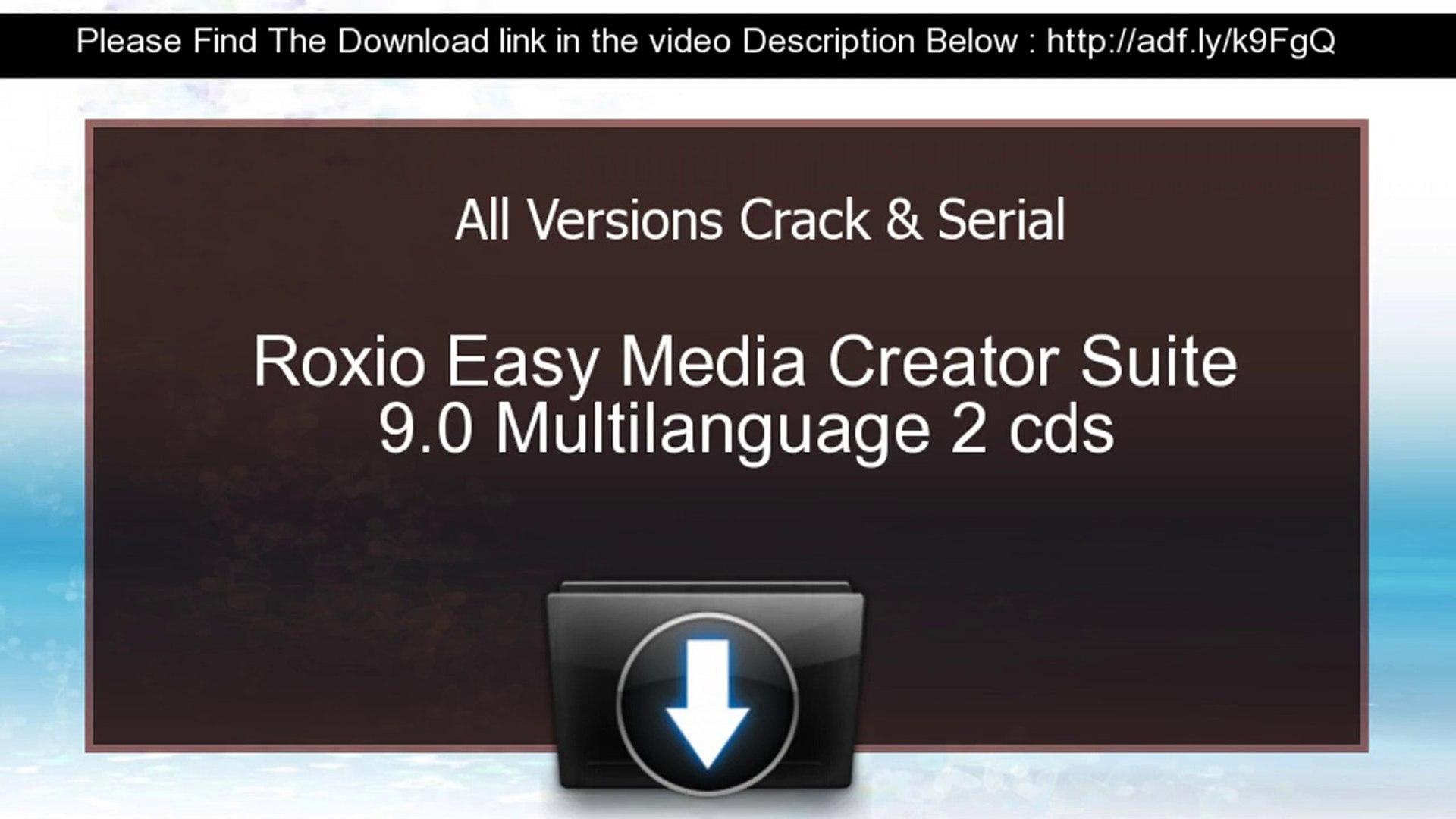 Crack de roxio easy media creator 9 suite freegraphics.