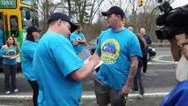 Boston Marathon bombing victims walk the marathon route