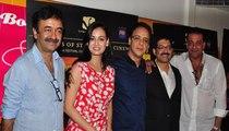 Arshad Warsi Sanjay Dutt Rajkumar Hirani & Hot Dia Mirza at at Munna Bhai film Chat Show