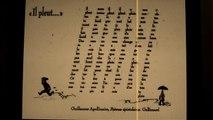 Guillaume Apollinaire: Il pleut lentement...