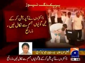 Hamid Mir recieved six bullets not three