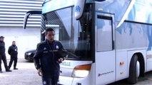 OM-Lille : l'arrivée des Olympiens au Vélodrome