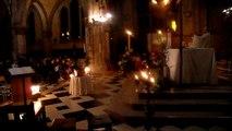 Court extrait de la Sarabande de la 1ère suite de Bach par Guilène Rannou-Legros pendant l' offertoire . Veillée pascale 19 Avril 2014 Eglise Ste Jeanne d'Arc de la Paroisse de la paix Amiens.