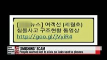 People warned of fresh 'smishing' scam taking advantage of ferry disaster