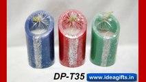 DESIGNER PILLAR SCENTED CANDLES - Get Your Logo imprint on Pillar Candles this diwali.