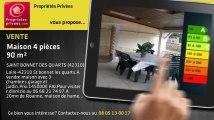 A vendre - maison - SAINT BONNET DES QUARTS (42310) - 4 pièces - 90m²