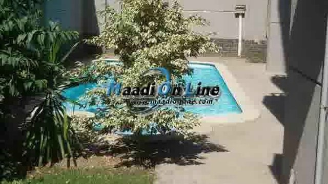 very nice ground floor with private pool and nice garden for rent in maadi sarayat