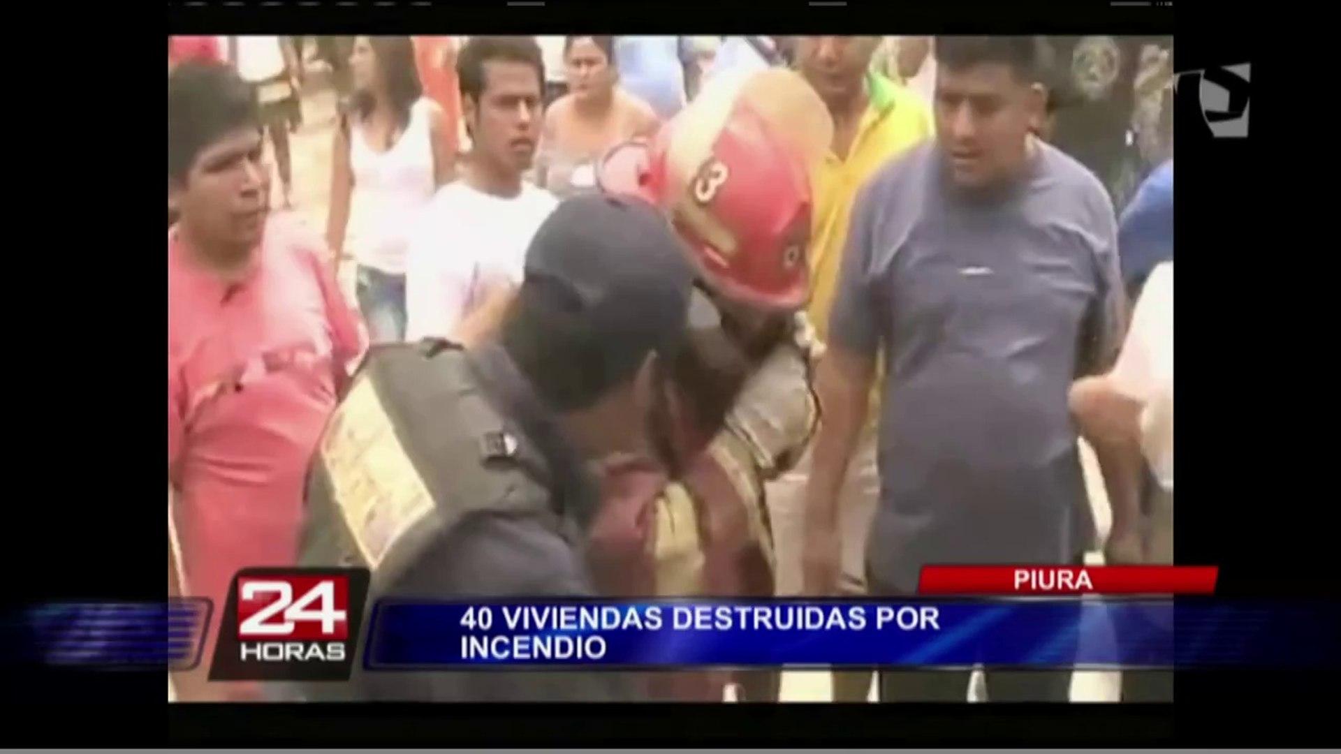Un voraz incendio redujo a cenizas más de 40 casas en Piura