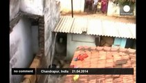 Leopard creates panic in Indian village