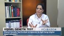 Kişisel Genetik Test'te diyet ve egzersiz ile ilgili hangi bilgiler tespit edilebilir?