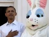 Un lapin s'invite chez Barack Obama - ZAPPING ACTU DU 22/04/2014