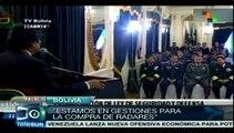 Bolivia sumará radares a su lucha contra el narcotráfico