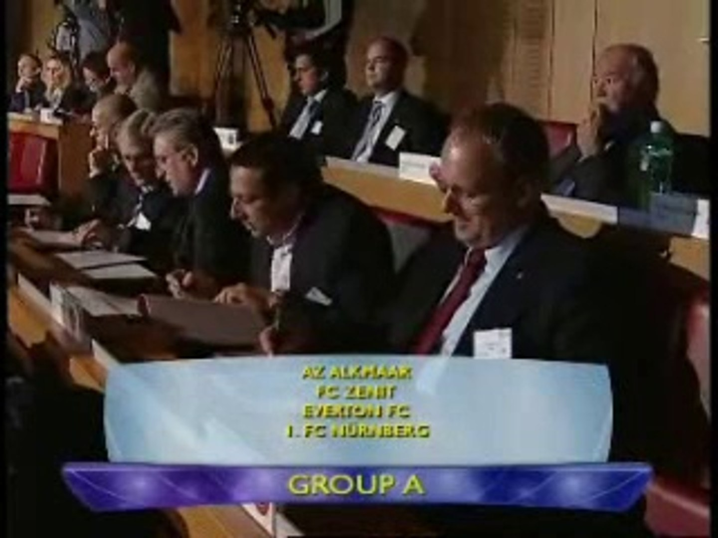 The draw for group A-Uefa cup 2007-08 (09-10-2007)