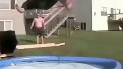 Backyard fun goes wrong  funny video
