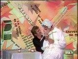 Mort Shuman et Eddy Mitchell dans une parodie de publicité