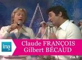 """Claude François et Gilbert Bécaud """"Les cerisiers sont blancs"""" (live officiel) - Archive INA"""