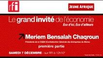 """Miriem Bensalah Chaqroun (1/2) : """"En matière économique, un peu de cynisme ne peut pas faire de mal"""""""