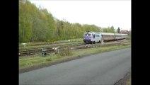 LE VENTADOUR, TRAINS INTERCITES 4591 & 4492 CLERMONT-Fd--BORDEAUX--CLERMONT.