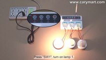 SMS, Phone call and Manual Remote Control AC Lamps with Cell phone GSM Smart Power Strip