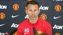 La primera rueda de prensa de Giggs como entrenador del United