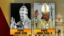Two popes to become saints as two popes look on