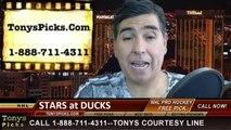 Anaheim Ducks vs. Dallas Stars Game 5 Odds Pick Prediction Playoff Preview 4-25-2014