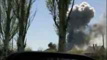 Un hélicoptère ukrainien touché par un tir de lance-roquette