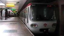 MPL75 : Départ de la station Vaulx en Velin La Soir sur la ligne A du métro de Lyon