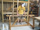 Man Makes Dining Room Table For His Wife Using Only Hand Tools