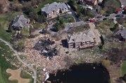 Explosion d'une maison à cause d'une fuite de gaz