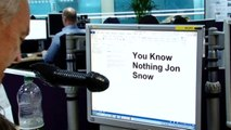 Channel 4's Jon Snow meets Game of Thrones' Jon Snow