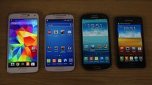 Samsung Galaxy S5 vs. Galaxy S4 vs. Galaxy S3 vs. Galaxy S2 - Which Is Faster
