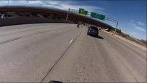 Accident de moto à plus de 200km/h ... Dingue!