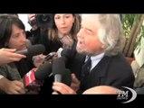 """Grillo a Siena: Mps qui c'è la mafia del capitalismo. Contro il bilancio di Profumo: """"È comico"""""""