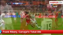 Frank Ribery, Carvajal'e Tokat Attı