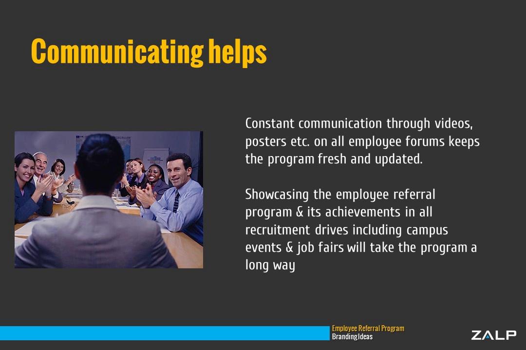 Employee Referral Program Branding Ideas: Zalp