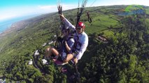 DECOUVERTE VOL BIPLACE EN PARAPENTE ILE DE LA REUNION- PARAGLIDING TANDEM FLIGHT REUNION ISLAND