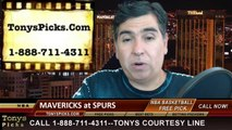 San Antonio Spurs vs. Dallas Mavericks Game 5 Odds Pick Prediction NBA Playoff Preview 4-30-2014