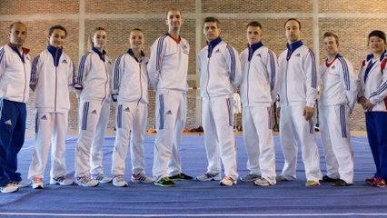 La sélection TAOLU de l'équipe de France de Wushu au Championnat d'Europe 2014