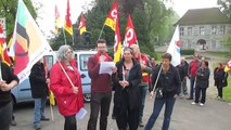 Manifestation du 1er mai 2014 à Dole Le discours du secrétaire général de l'UL CGT.
