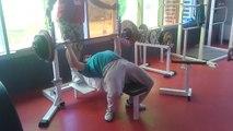 185 kg bench press(développé couché) 2eme essai(1er pas filmé)